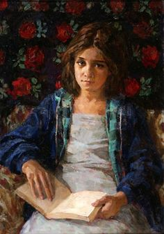 donna in lettura - Dmitri Ivanovich Shmelev