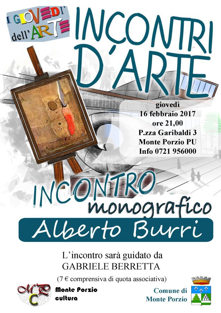 Locandina incontri arte 16022017